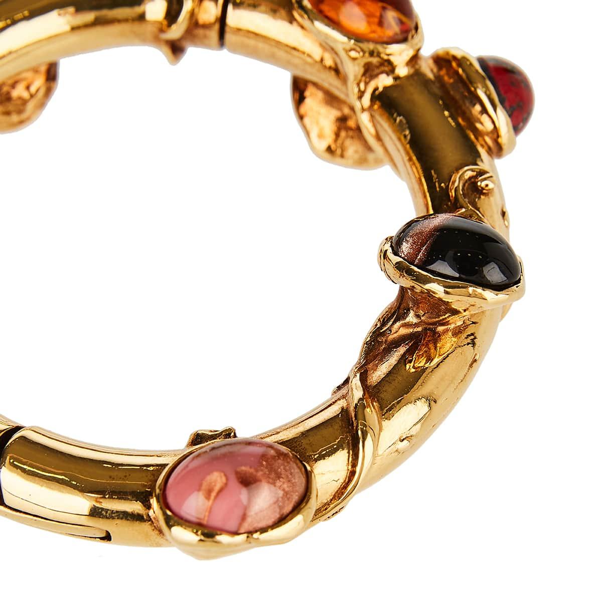 Tree embellished metal bracelet