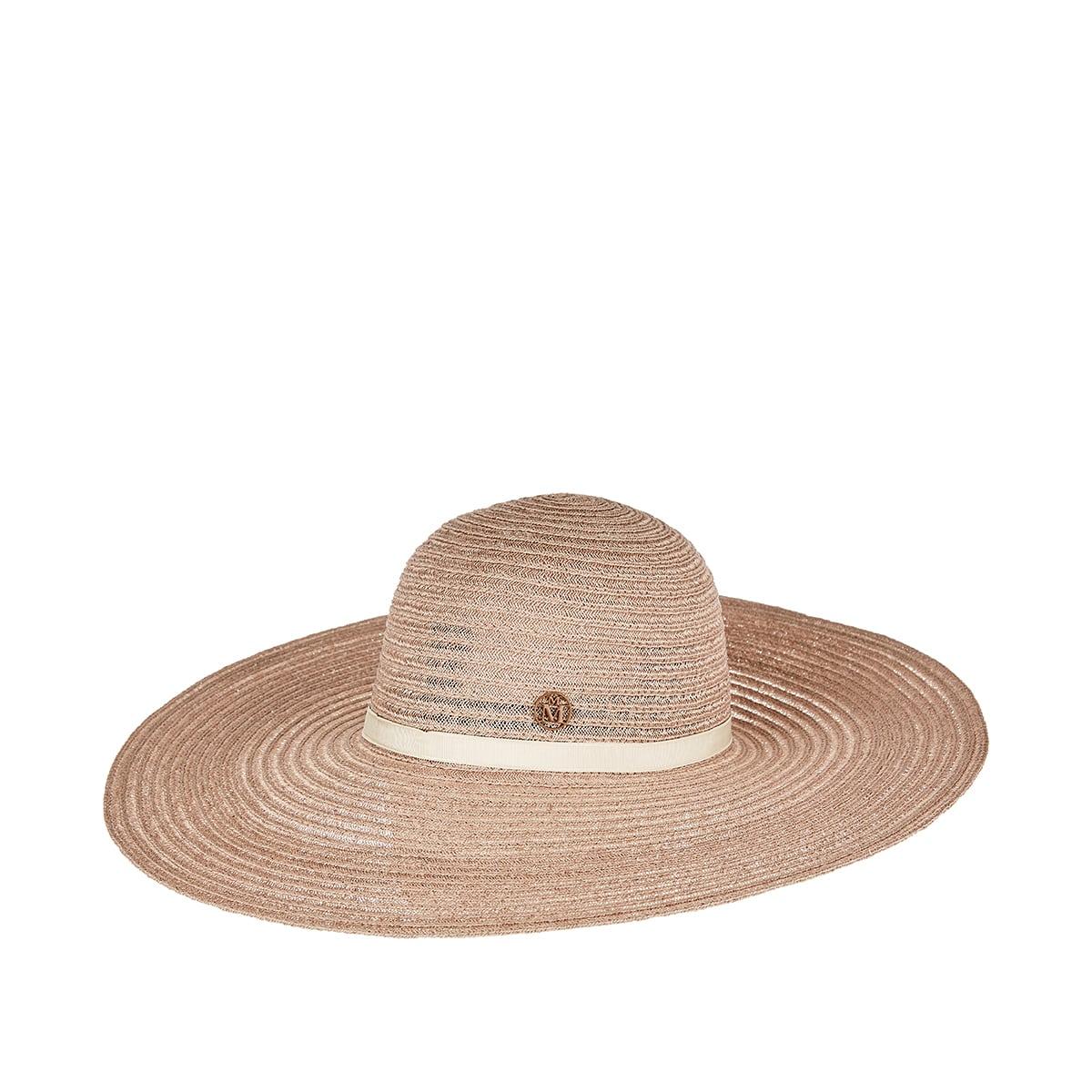 Blanche wide-brim woven hat