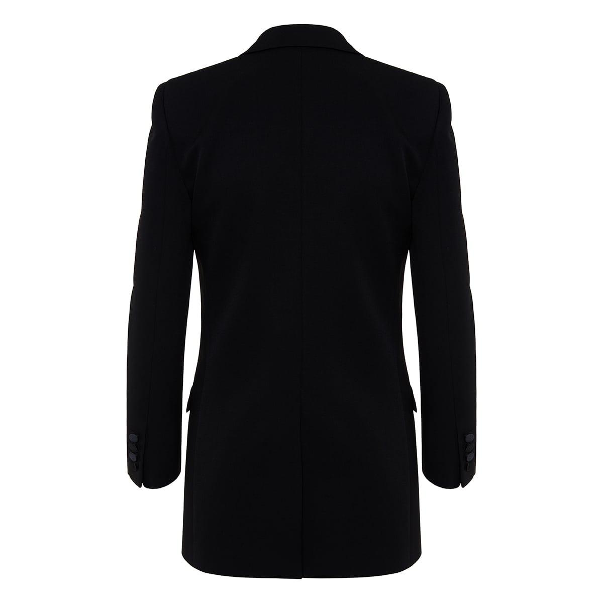 Satin-trimmed tuxedo blazer