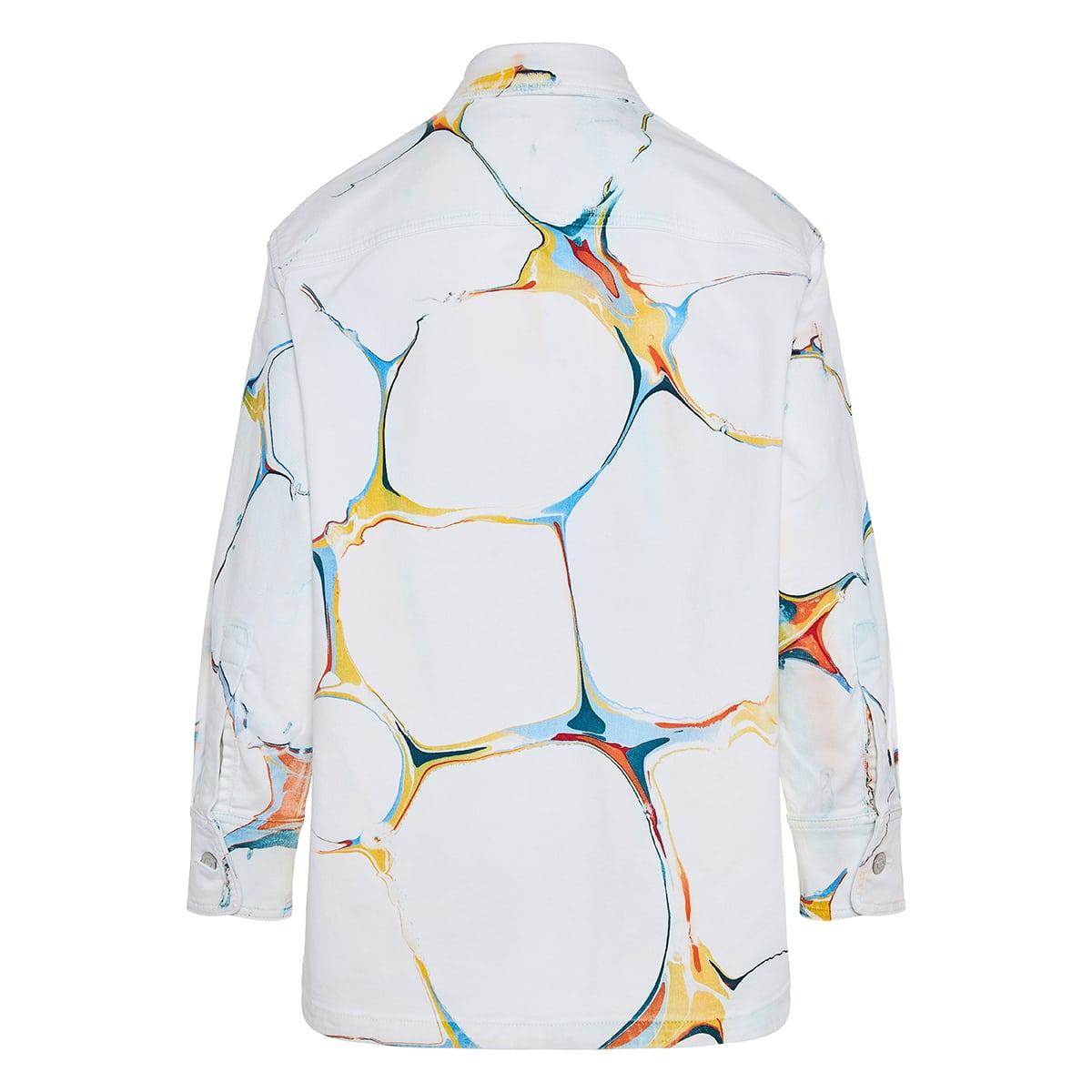 Printed denim overshirt