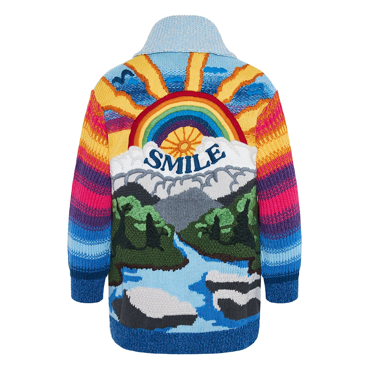 Smile oversized intarsia cardigan