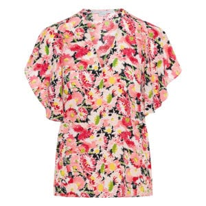 Mallory floral silk top