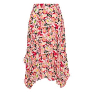 Ashlyn asymmetric floral skirt