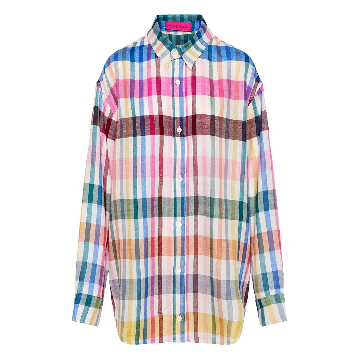 Oversized checked cashmere shirt