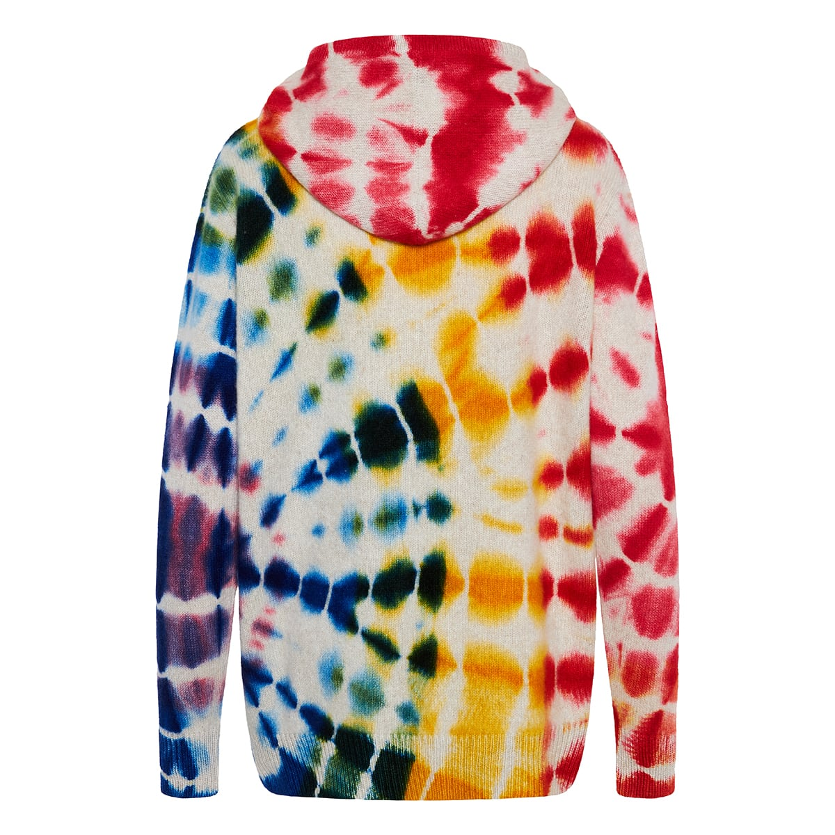 Scope tie-dye cashmere zip hoodie