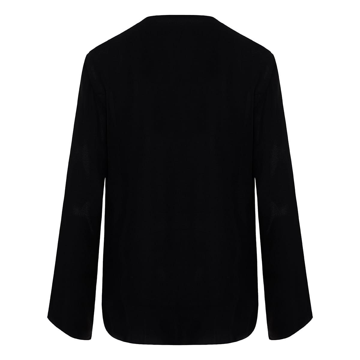 Draped-panel silk shirt