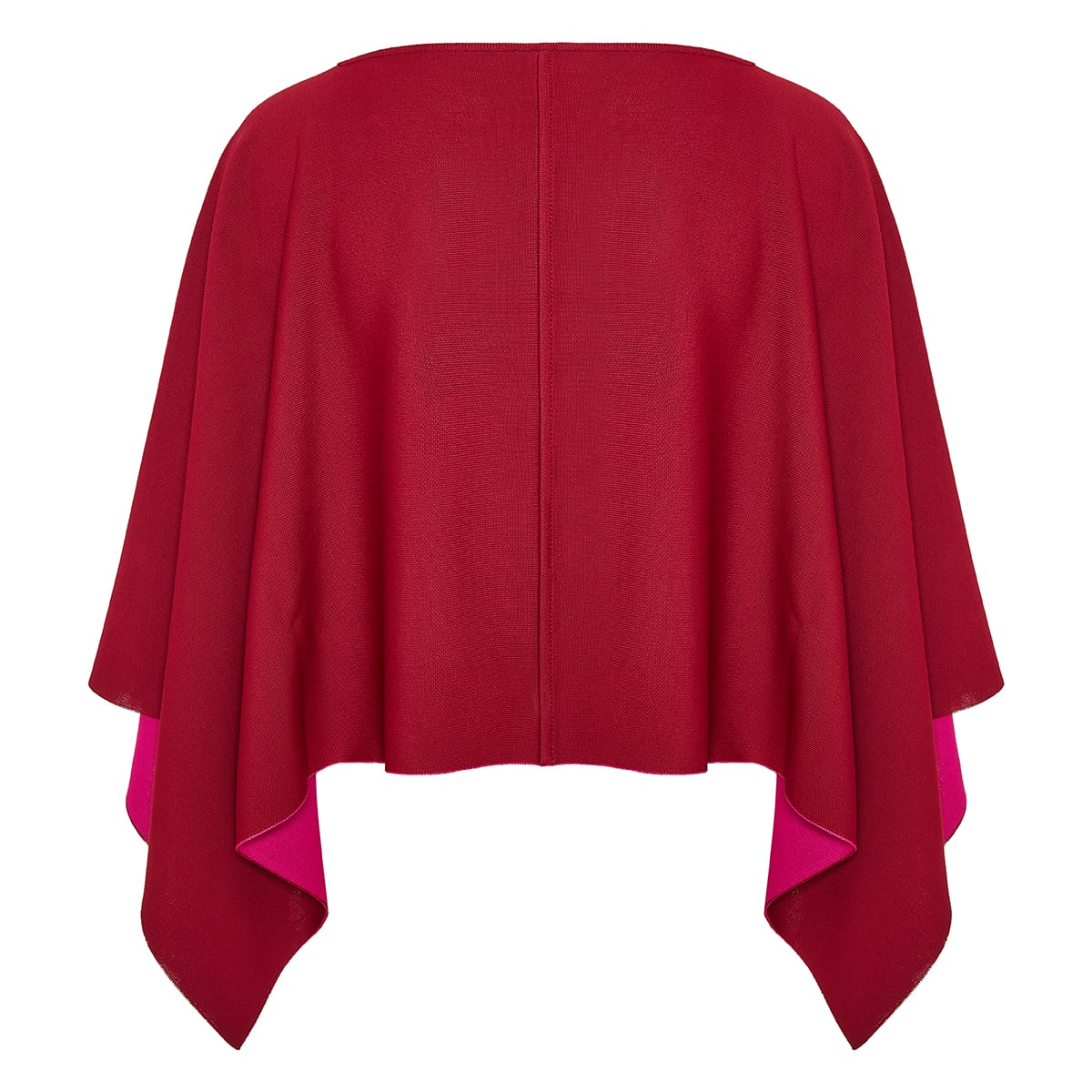 Compact-knit asymmetric cape