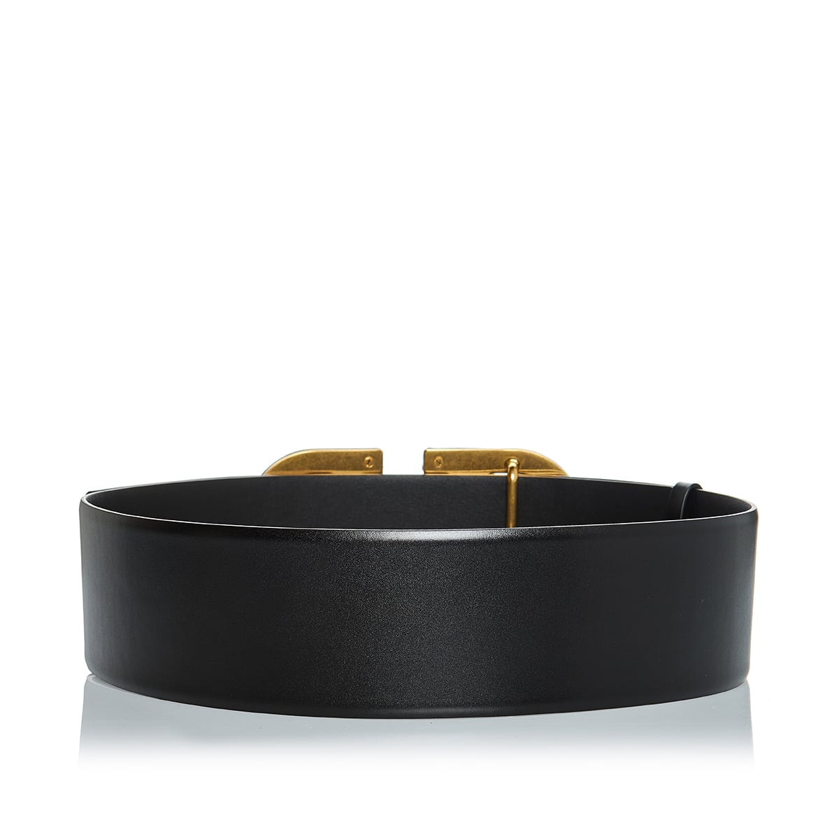 Vlogo wide leather belt