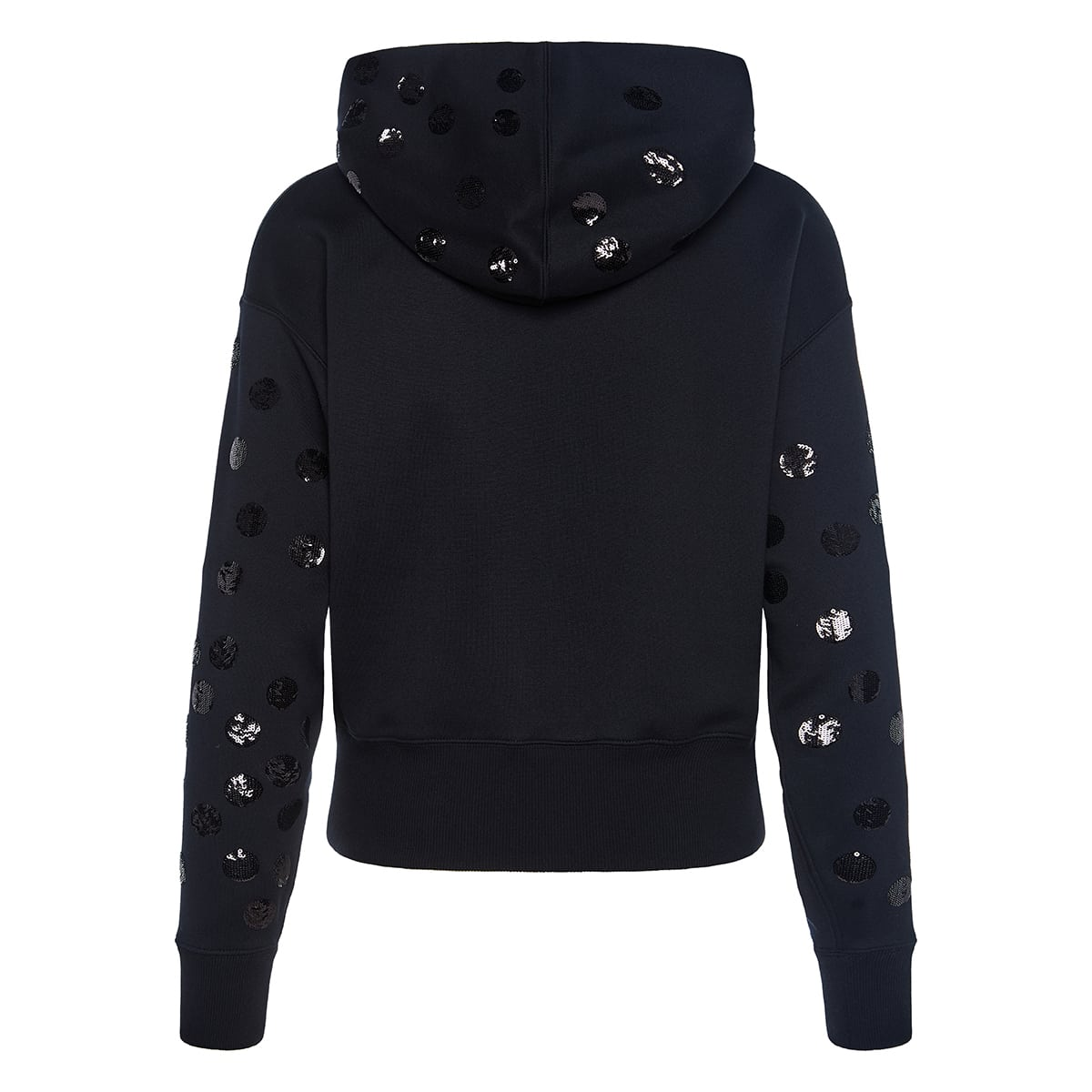 Hoodie with sequin polka dots
