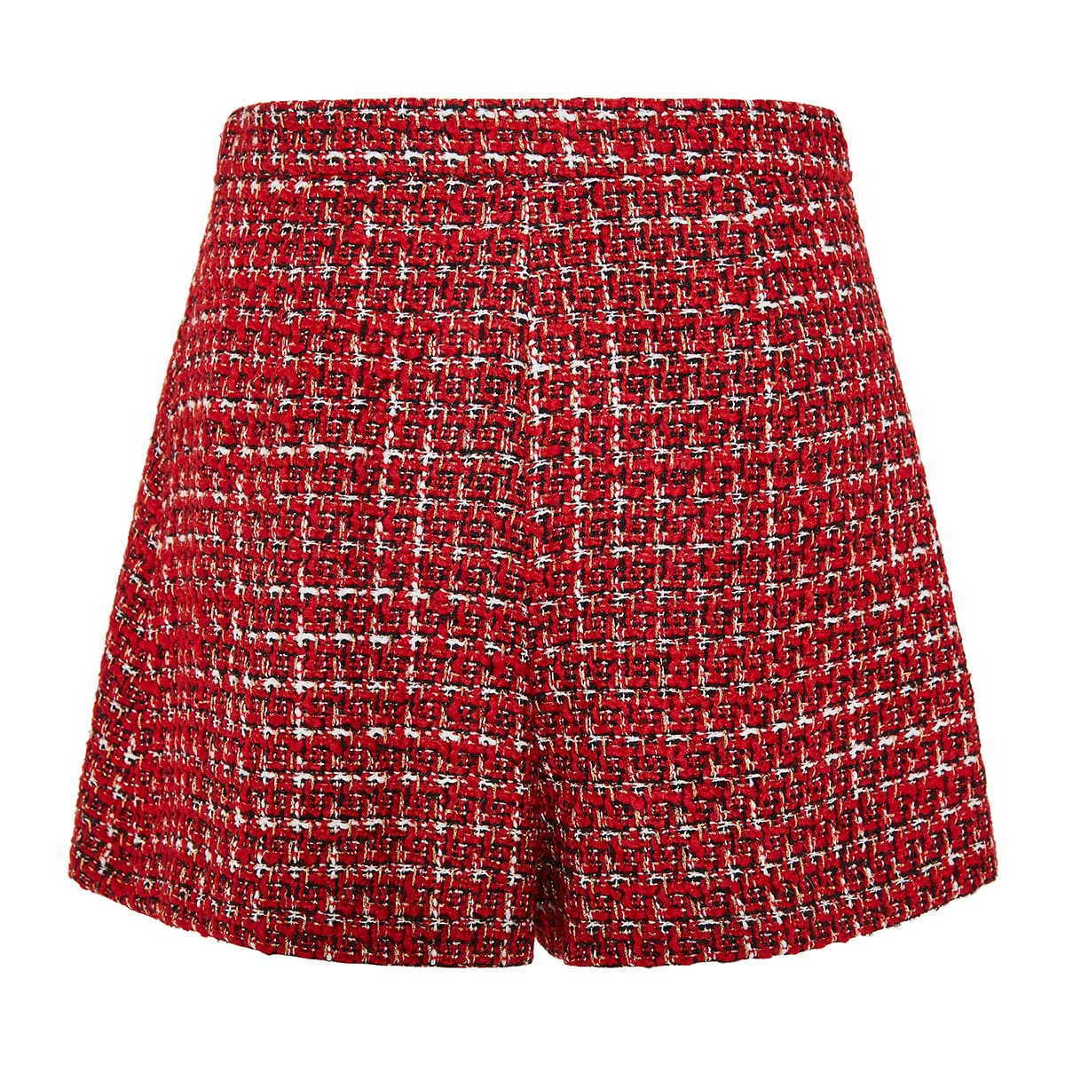 Roman Stud tweed shorts