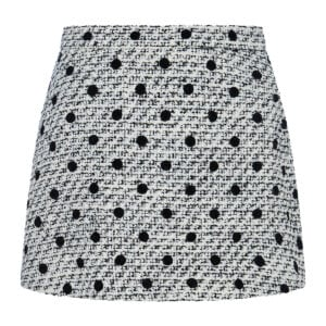 Polka-dot tweed shorts