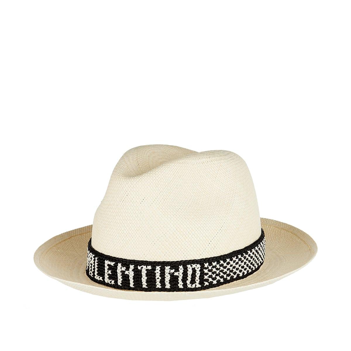 Logo straw fedora hat