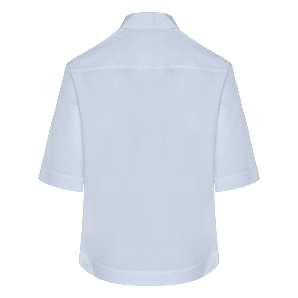 Oversized poplin polo shirt