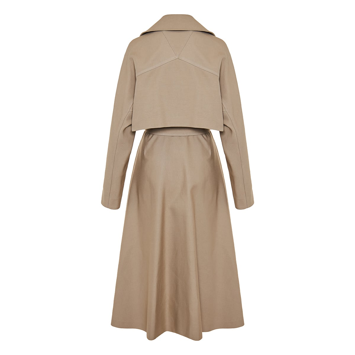Flared trench coat