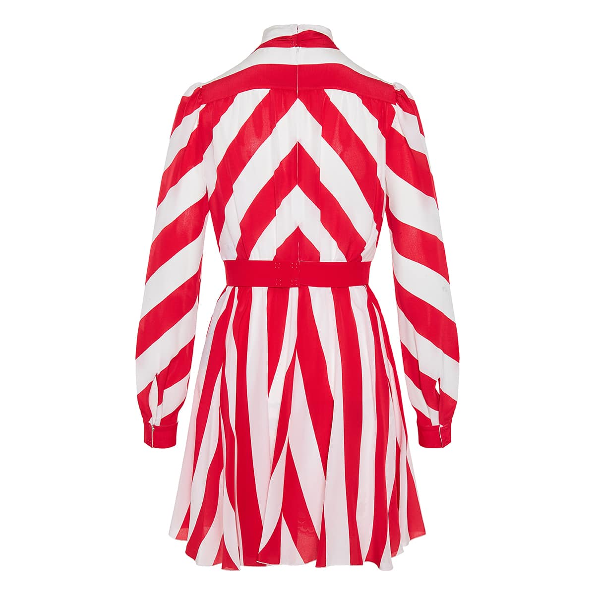 Bow-tie striped mini dress