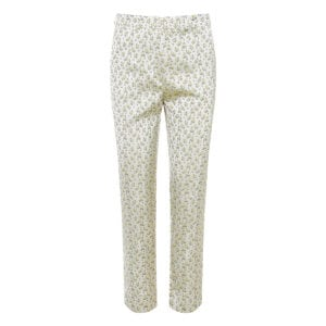 Floral jacquard cropped trousers