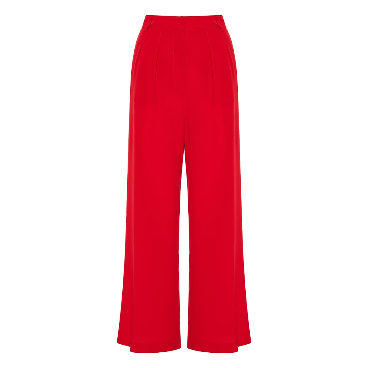 Flared wide-leg trousers