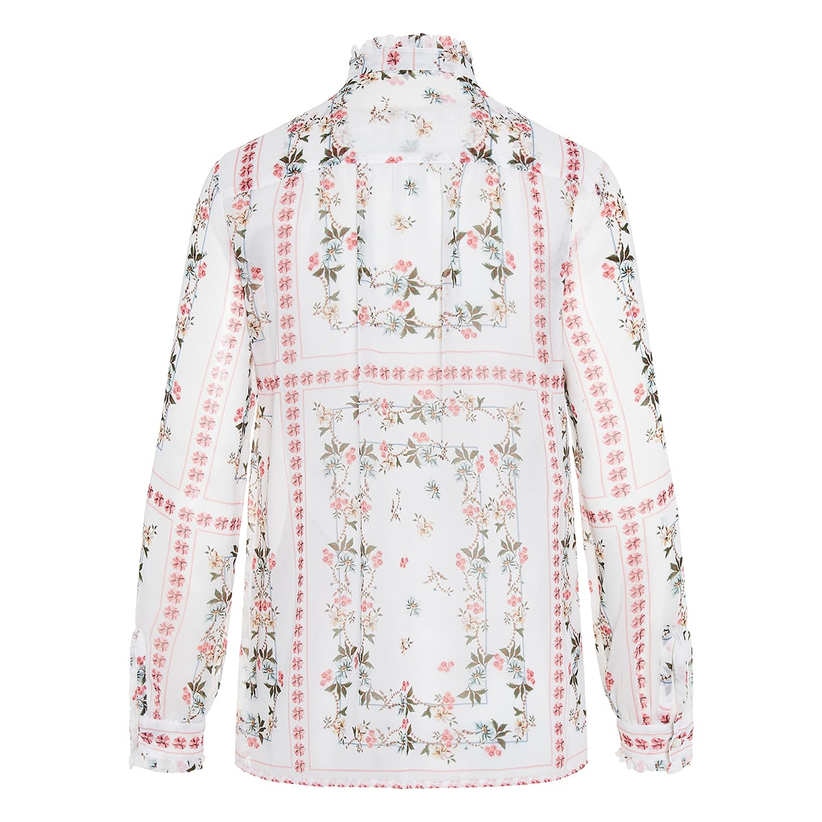 Bow-tie floral shirt