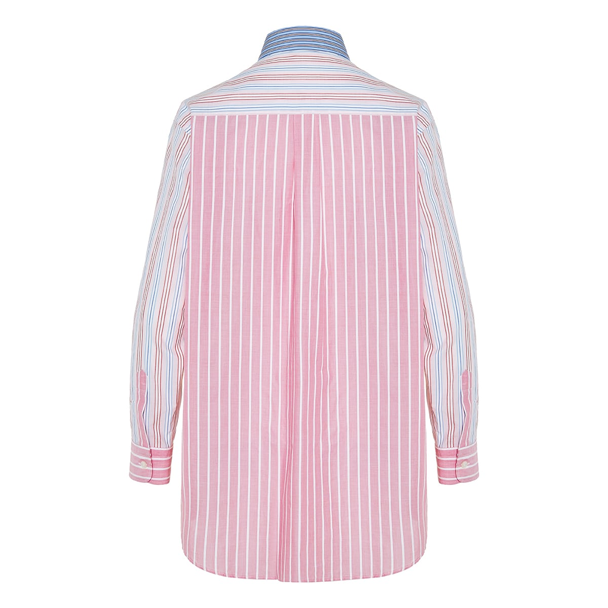 Oversized patchwork striped shirt