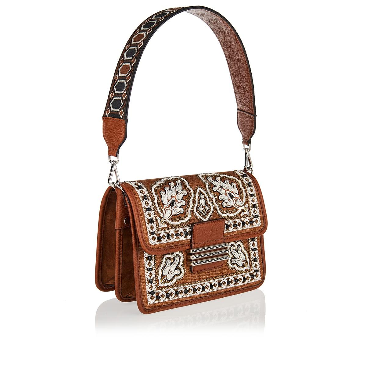 Rainbow embellished shoulder bag