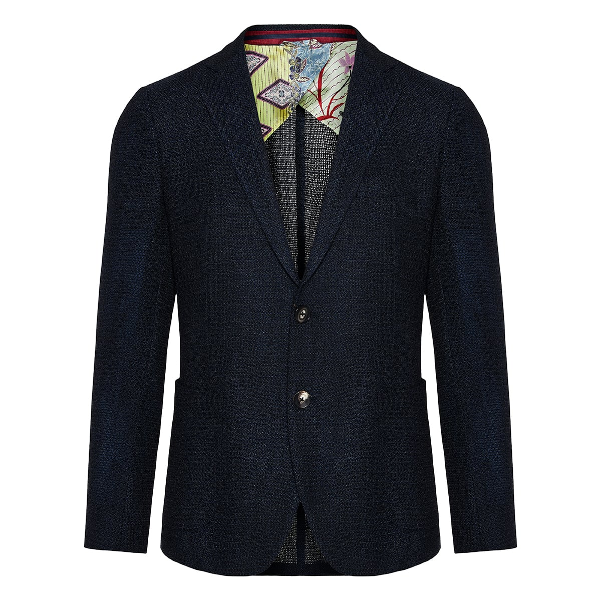 Single-breasted textured blazer