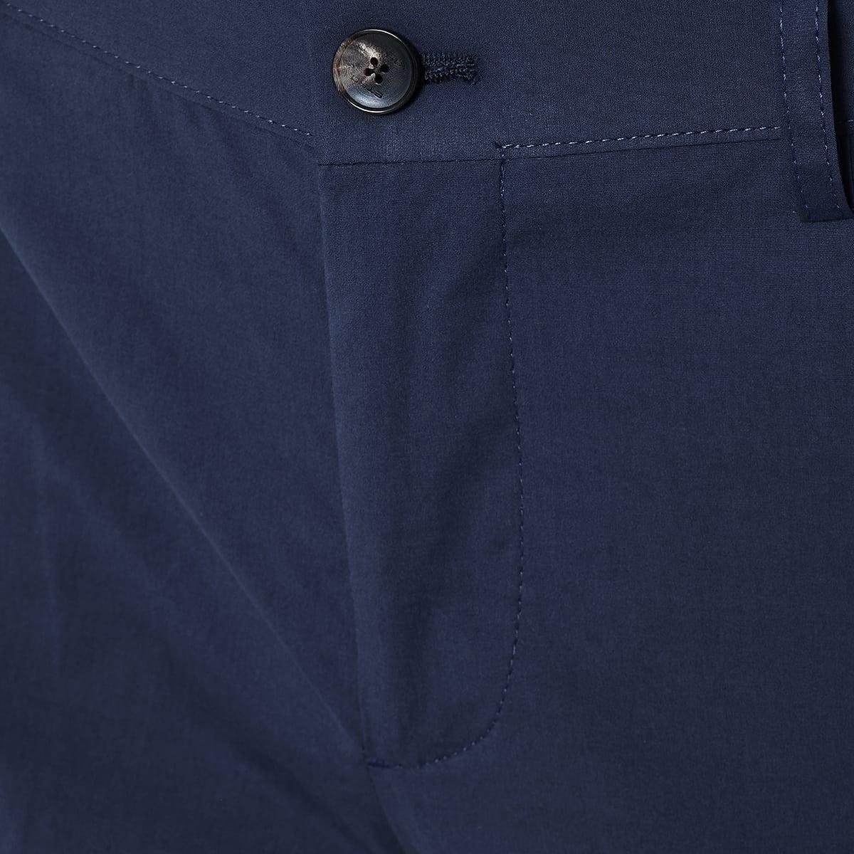 Slim-fit cotton trousers