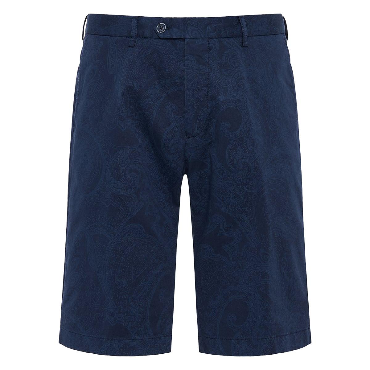 Paisley tailored shorts