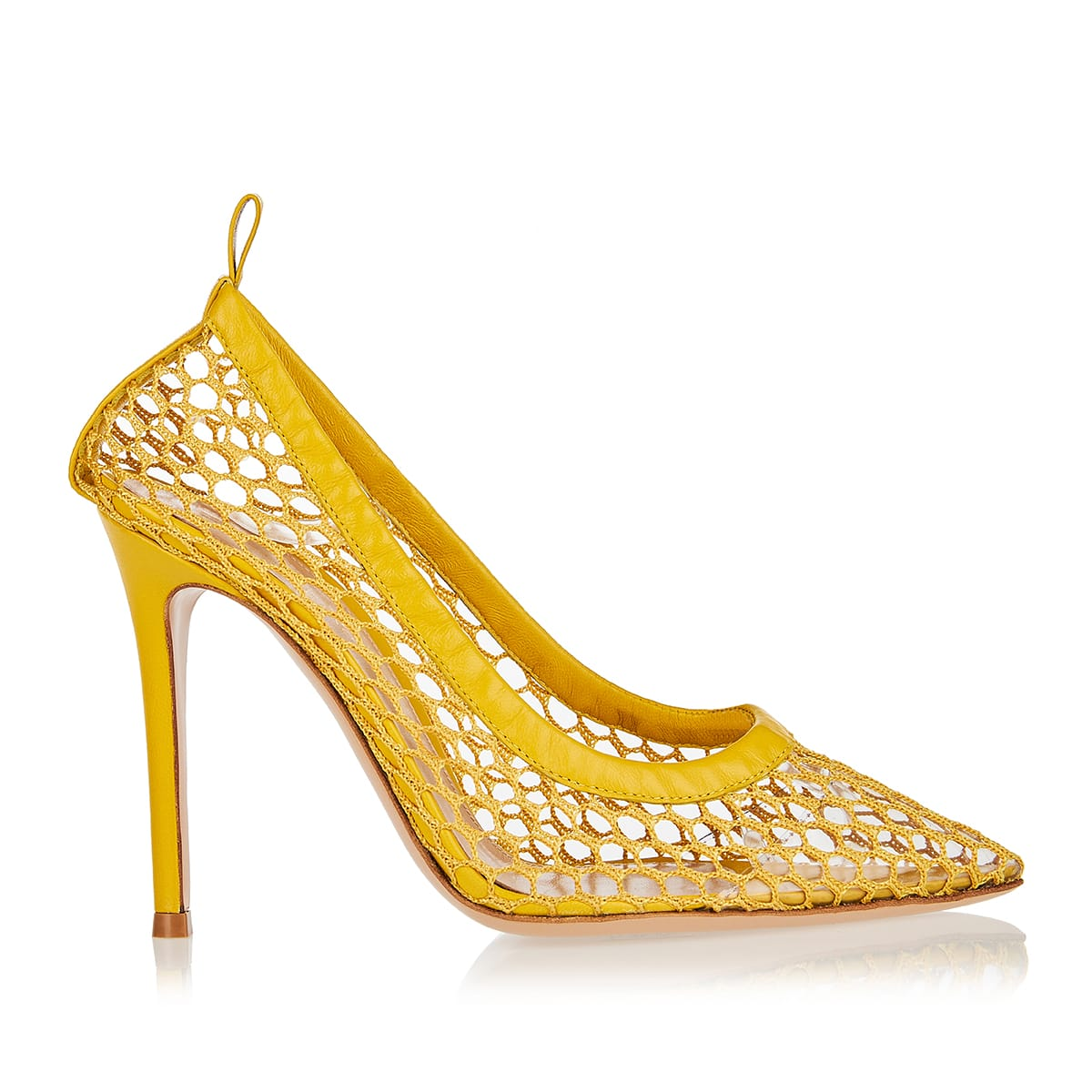 Alisia 105 leather and mesh pumps