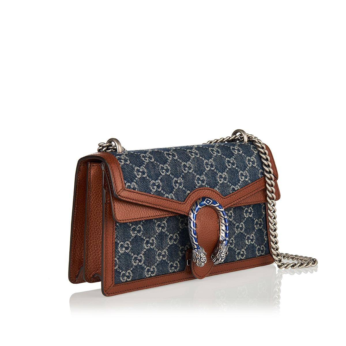 Dionysus Small GG denim shoulder bag