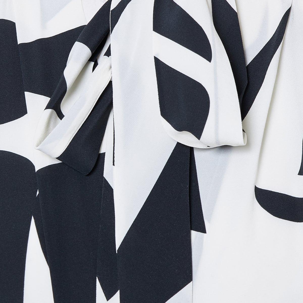 Atoae printed bow-tie draped dress