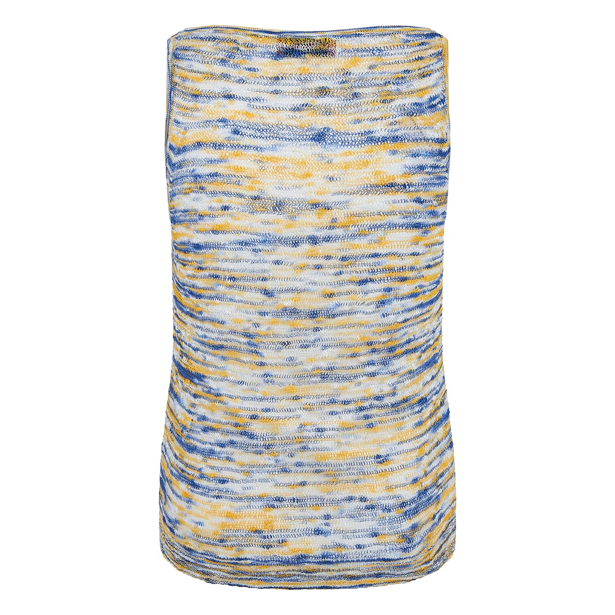 Abstract print knitted top
