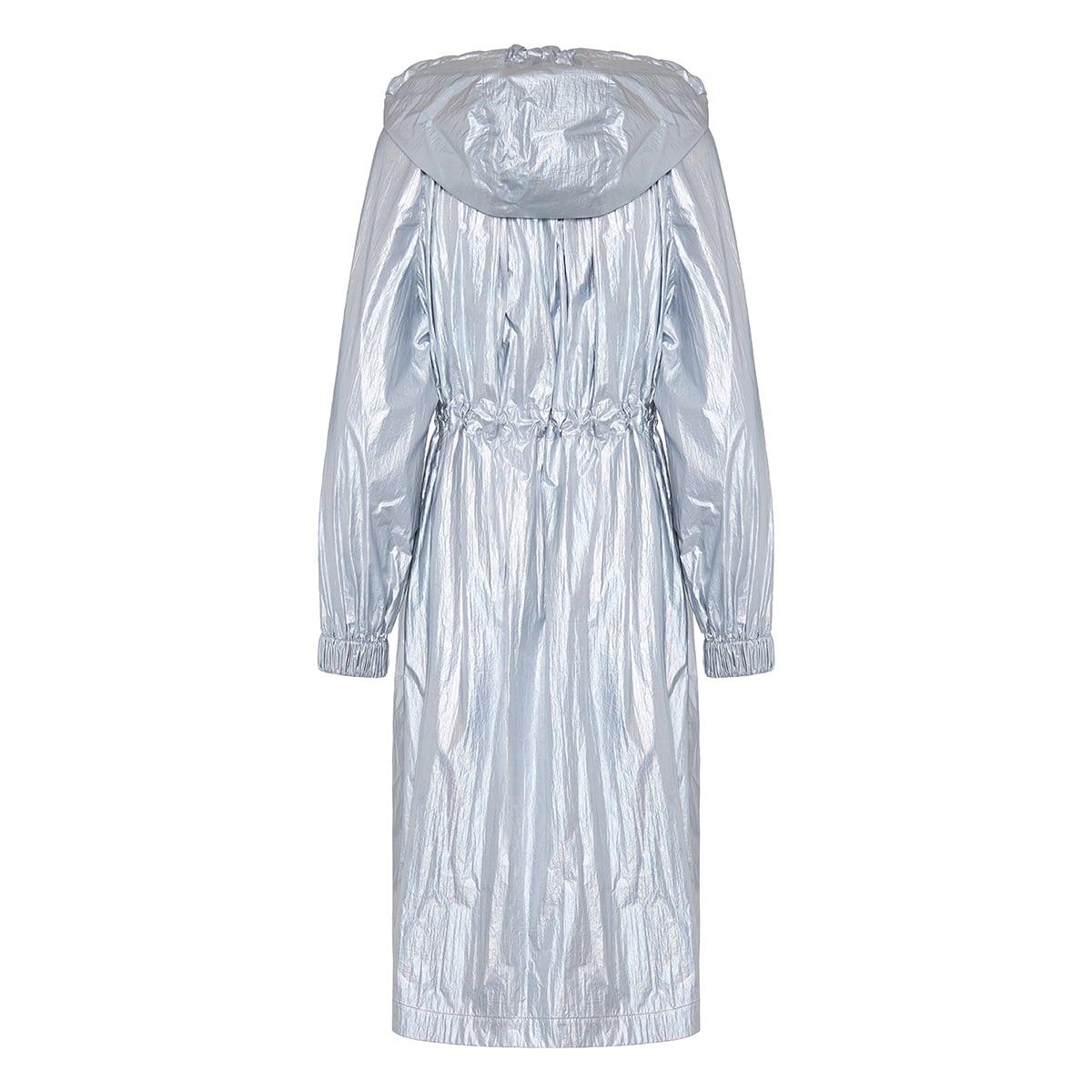 Akubens metallic parka coat