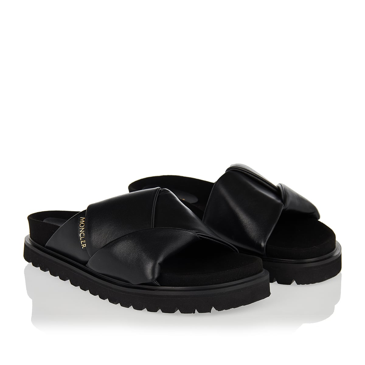Fantine leather slides