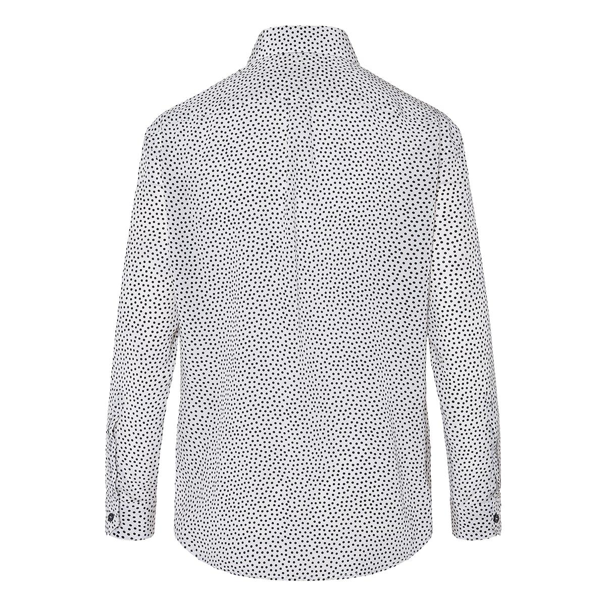 Polka-dot crepe shirt