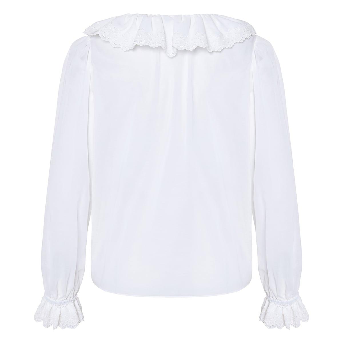 Ruffled cotton blouse