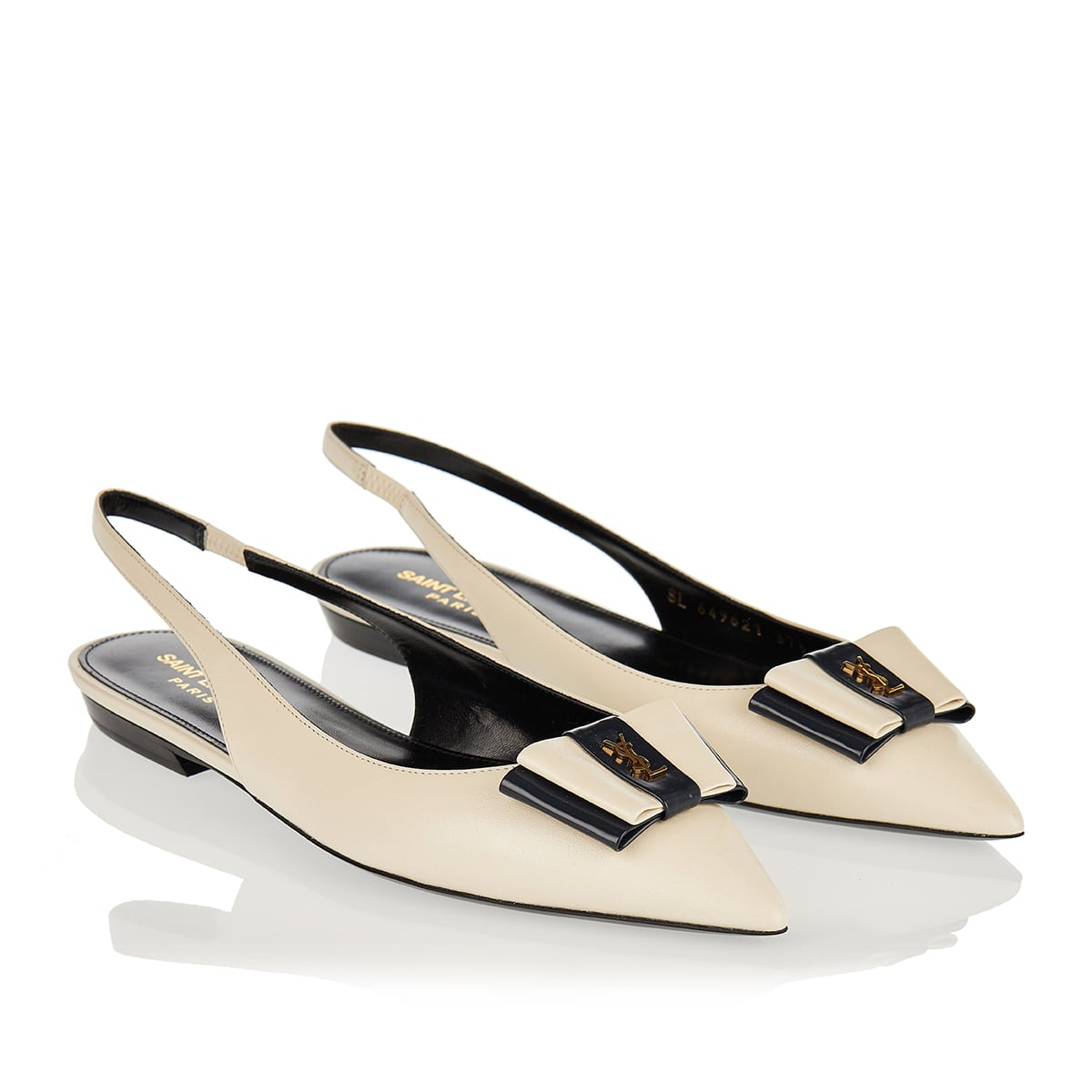 Anaïs leather slingback flats