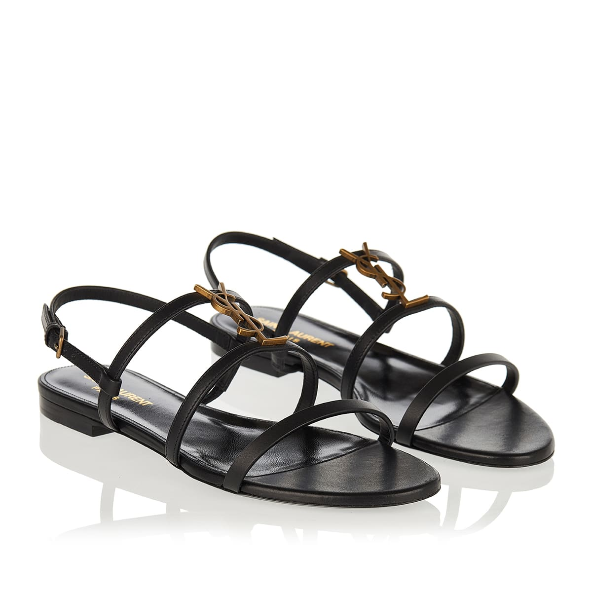 Cassandra leather flat sandals