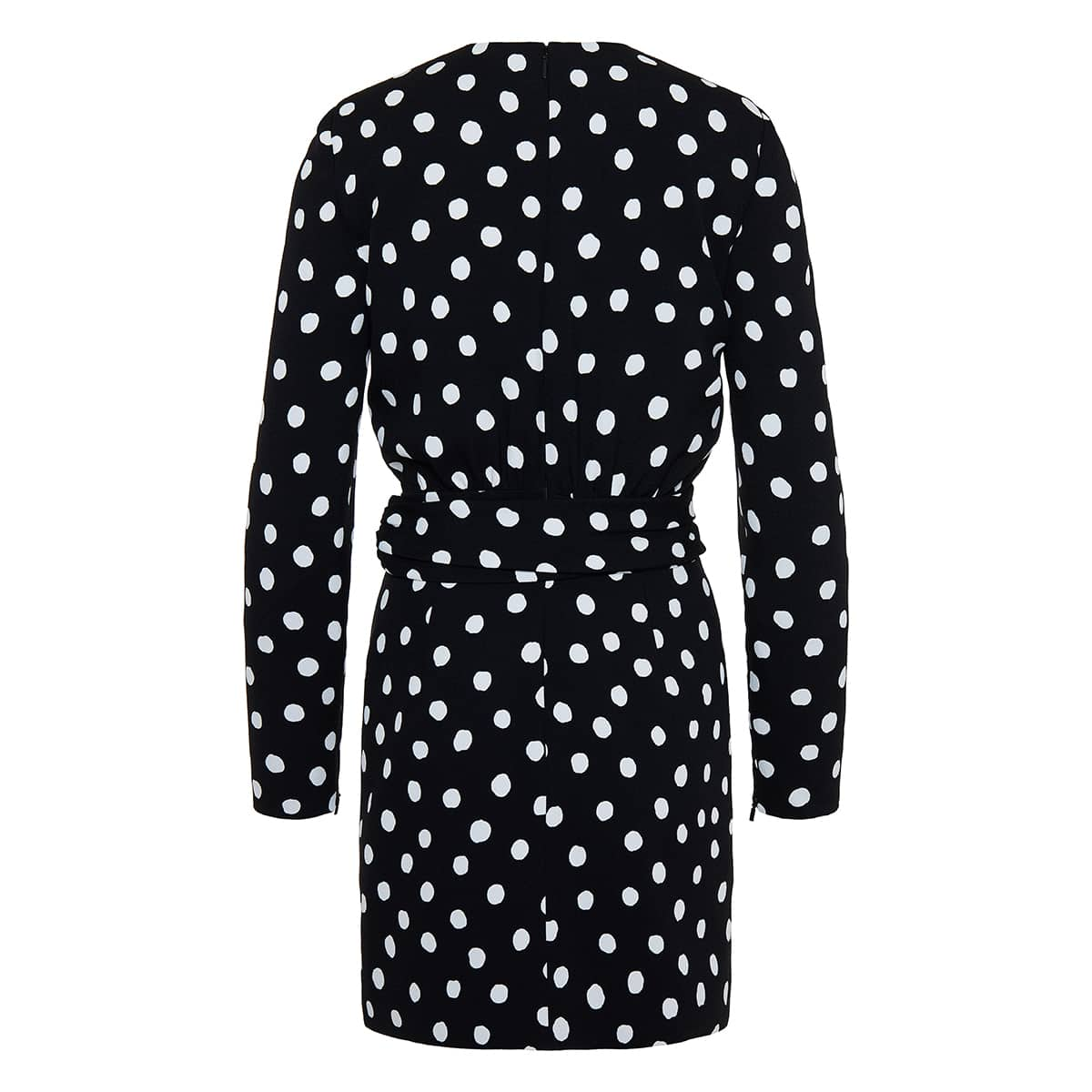 Polka-dot knotted mini dress