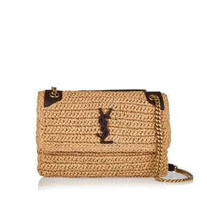 Niki medium raffia shoulder bag