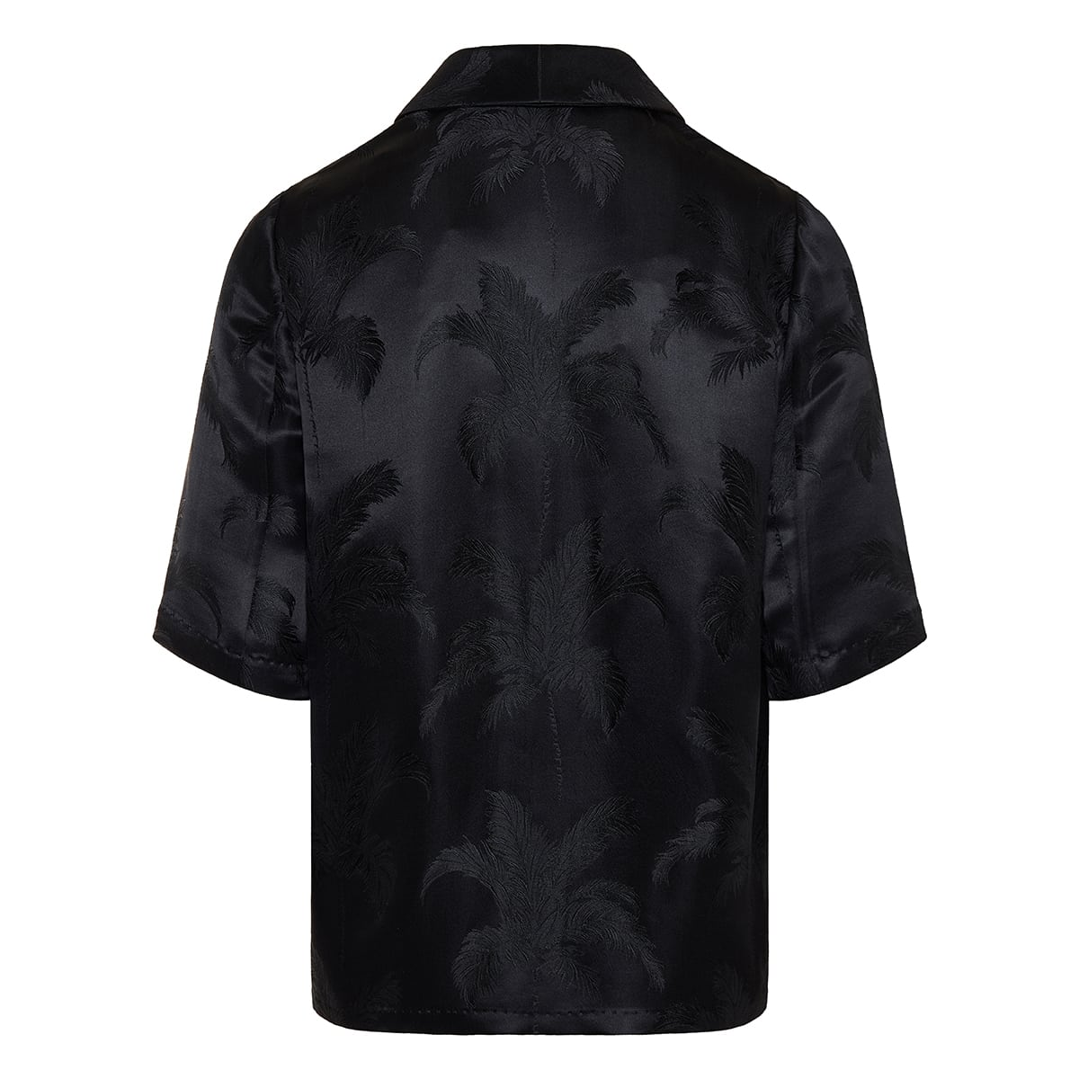Palm jacquard satin shirt