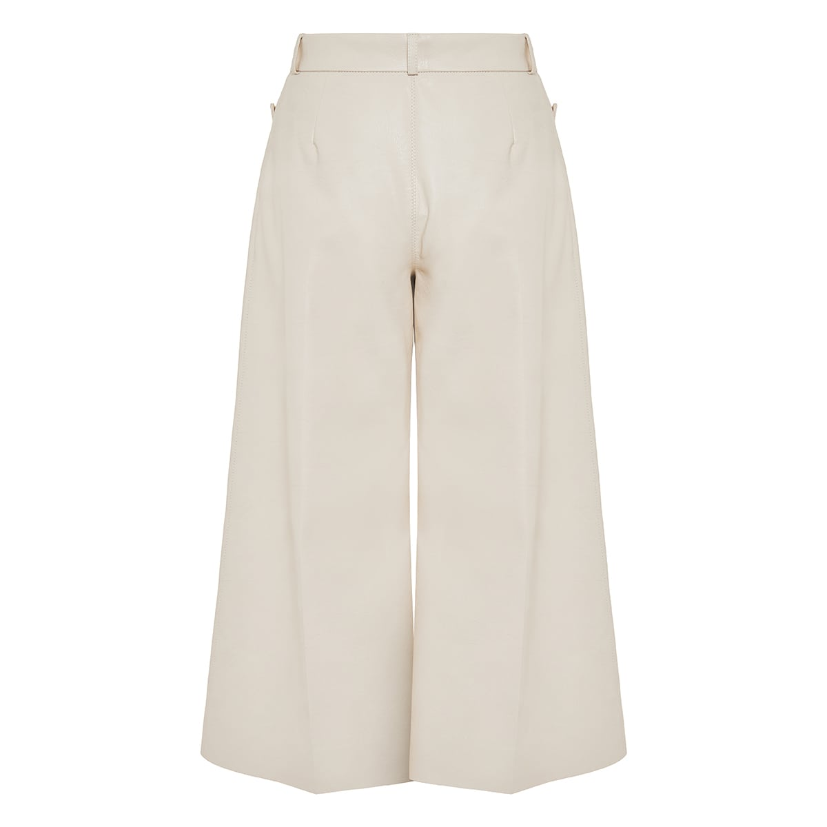 Charlotte faux-leather culottes