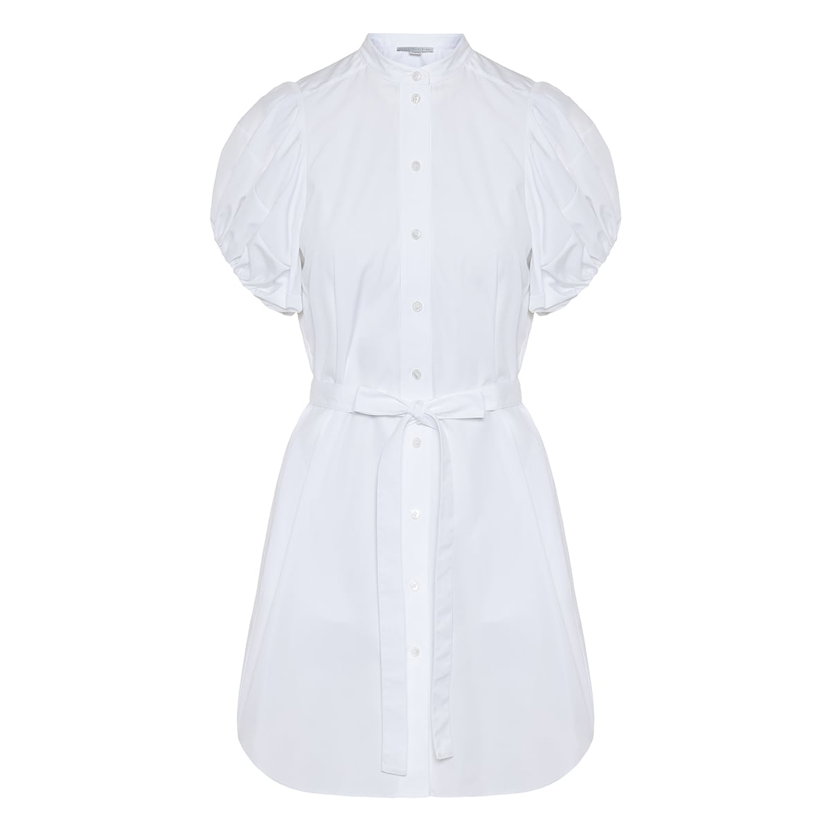 Anastasia puff-sleeved poplin shirt dress