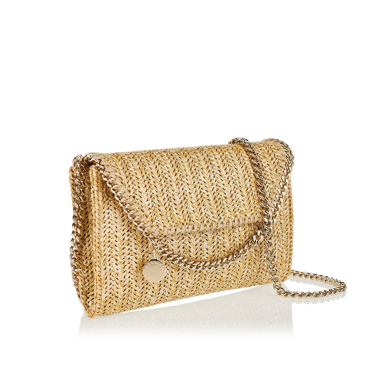 Falabella Mini woven shoulder bag