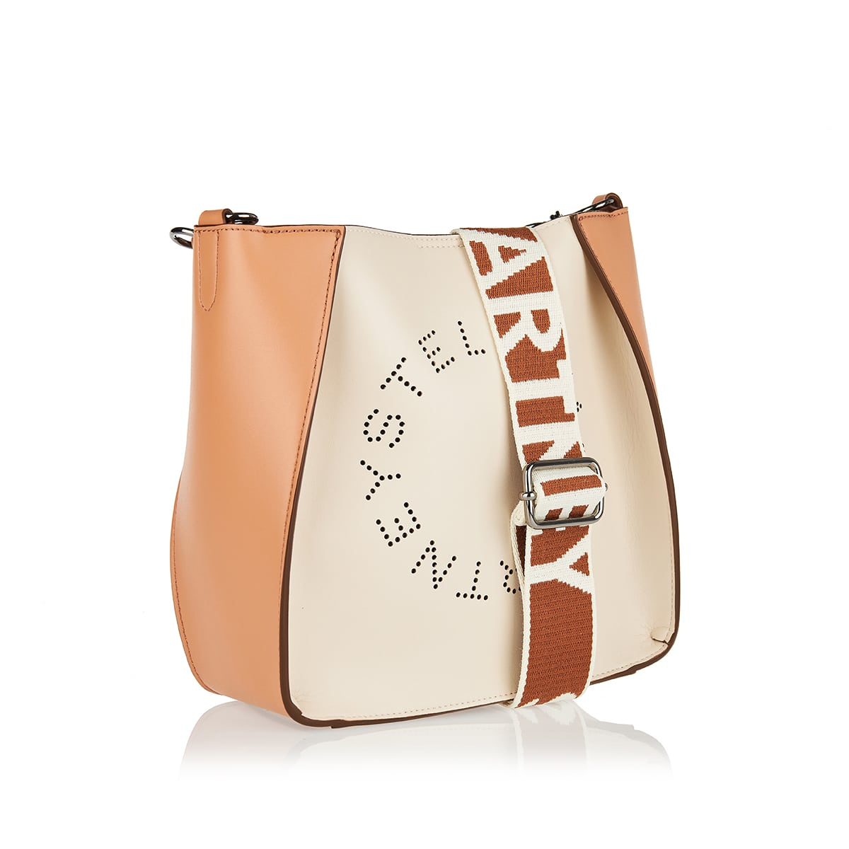 Two-tone logo small crossbody bag