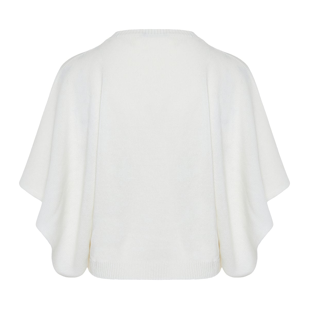 Flared-sleeve cashmere sweater