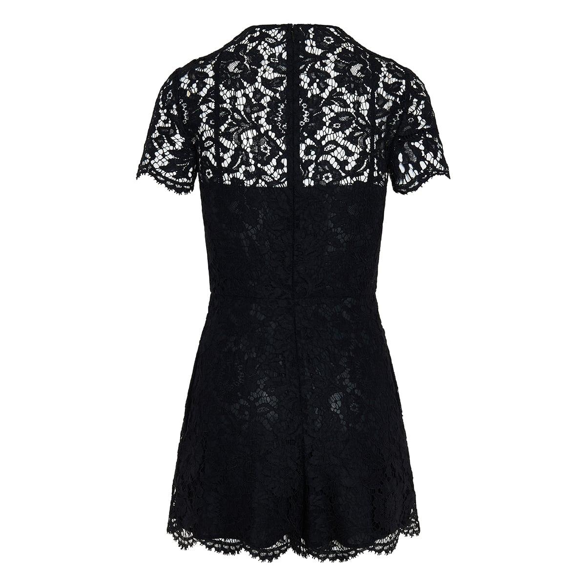 Floral-lace playsuit