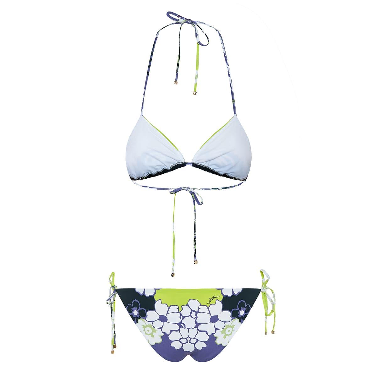 Printed bikini with ties