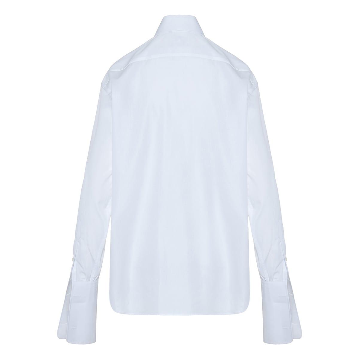 Signature oversized poplin shirt
