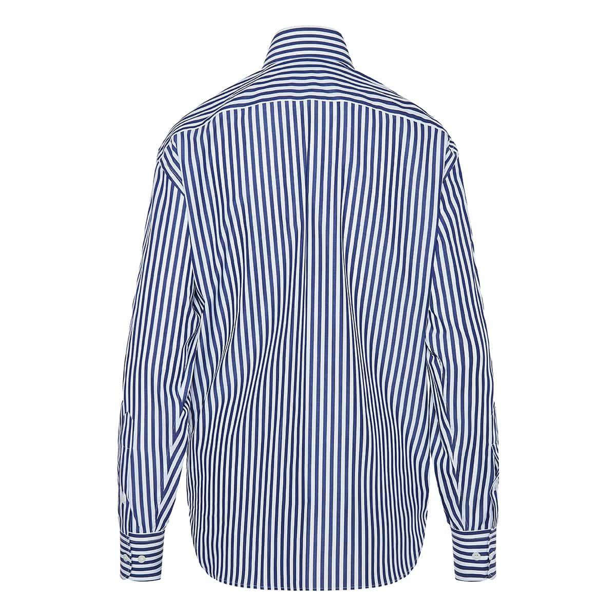 Signature oversized striped shirt