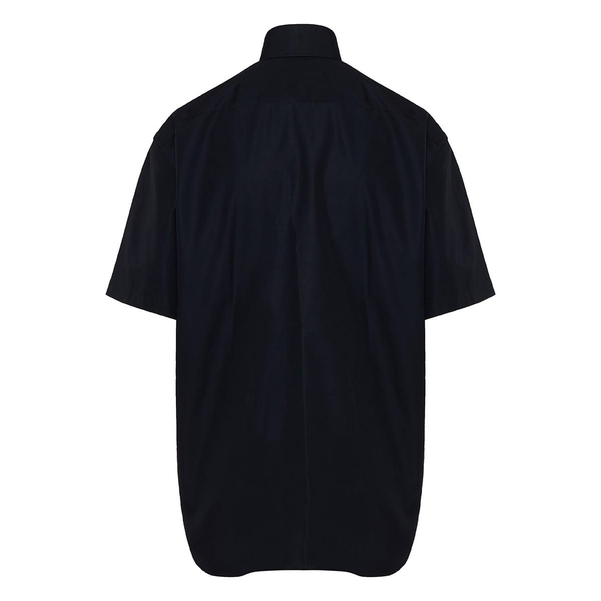 Short sleeve oversized poplin shirt